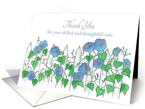 Thank You Caregiver Cancer Patient Morning Glory Flower Art card