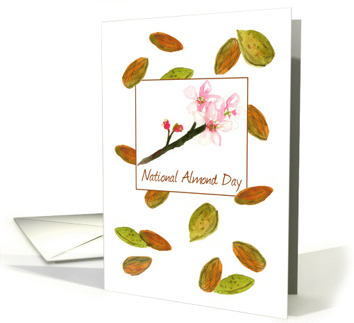 National Almond Day Tree Nuts Pink Flower Blossoms card (1434486)