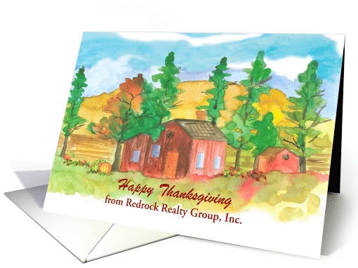 Happy Thanksgiving From Realtor Custom Name card (1542504)