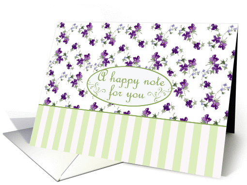 Purple Blossom Friendship Note Card Watercolor Flowers card (239677)