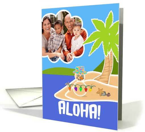 Christmas in Hawaii Aloha! Mele Kalikimaka Photo card (851633)