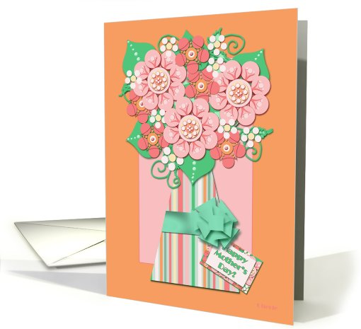 Whimsical Flower Vase Happy Mother's Day! card (410759)