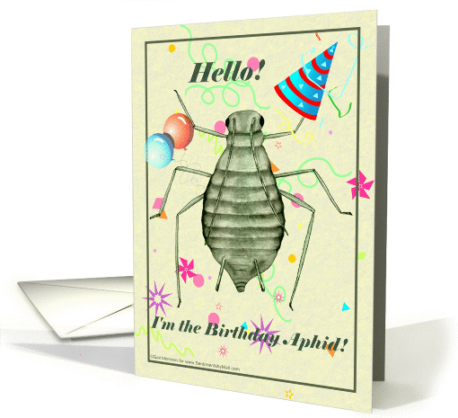 Birthday Aphid card (83804)