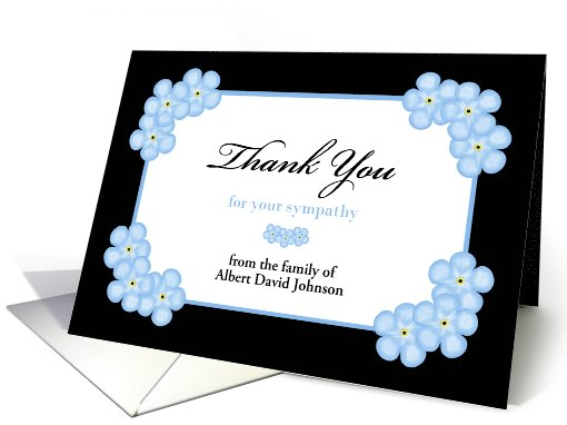 Sympathy Thank You Card -- Forget Me Not Flowers card (1075112)