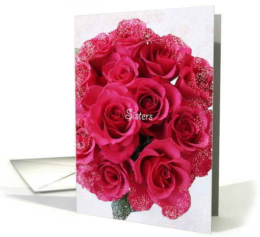 Sister Maid of Honor Card -- Rose Bouquet card (340058)