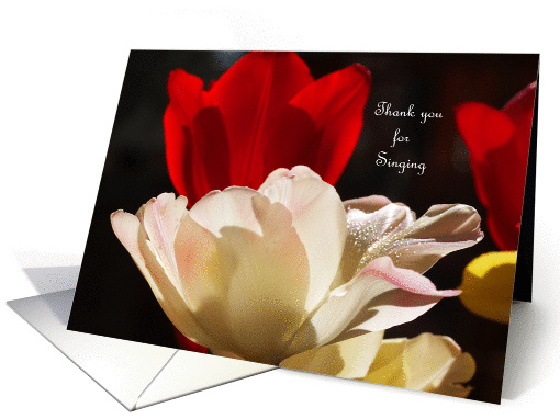 Tulips Singer Thank You card (374613)