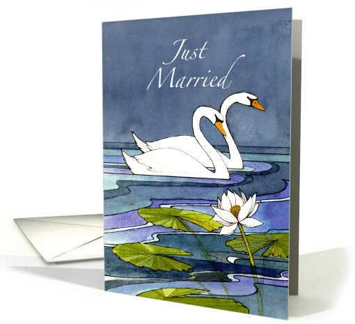 Midnight Swans Just Married - Mr & Mrs card (1128198)