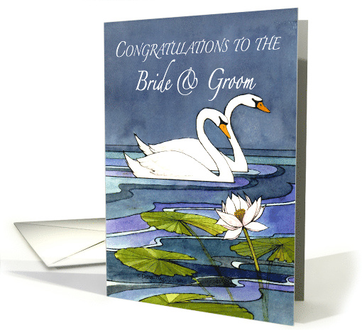 Congratulations to the Bride & Groom Midnight Swans card (1136122)