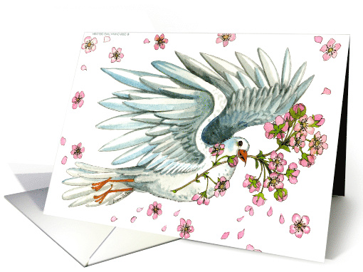 Spring Dove - Passover card (174015)