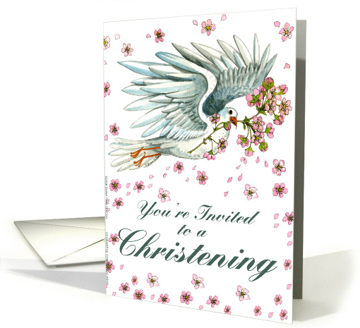 Dove Invite - Christening card (189979)