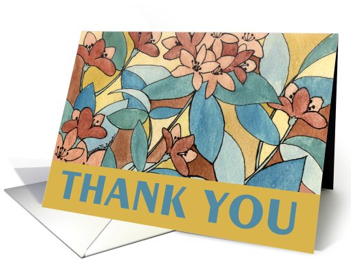 Thanks for your Hospitality - Autumn Floral card (507025)