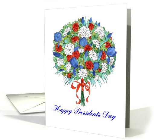 Presidents Day Patriotic Bouquet card (641528)