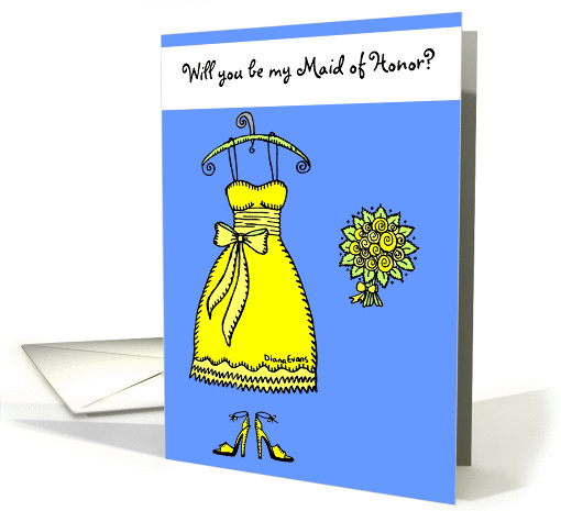 Will you be my Maid of Honor? card (137283)