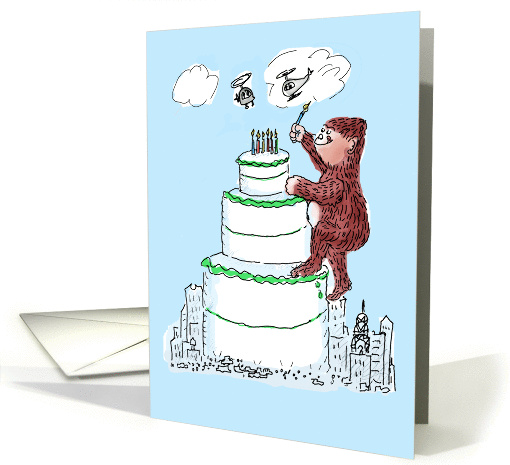 Birthday Humor - Gorilla Birthday Cake card (1318876)