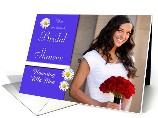 Bridal Shower Photo Invitation with Daisies card (934419)