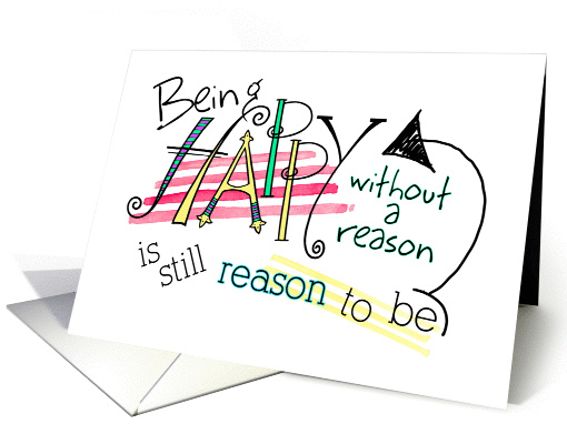 Being Happy, Fun Font Birthday Card. card (1321126)