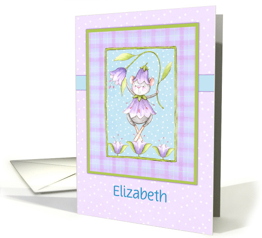 Custom Ballerina Mouse Dressed In Lavender Flowers, Girls... (1584776)