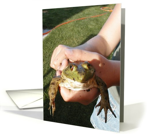 Look I Found a Frog All or Any Occasion Blank card (108660)