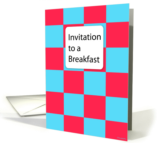 Invitation to a Breakfast. card (124941)