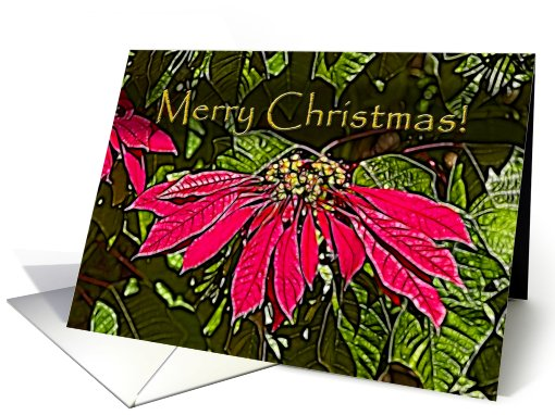 Red Poinsettia, Merry Christmas card (717509)