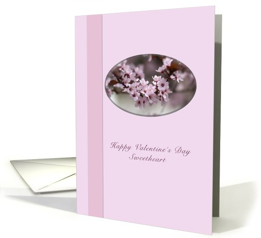 Valentine Card for Sweetheart with Pink Flowers card (527959)