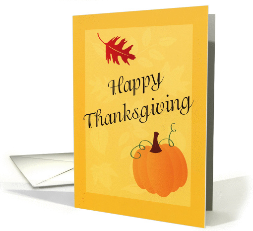 Happy Thanksgiving card (107353)