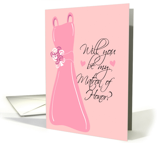 Will you be my Matron of Honor? Pink card (133712)