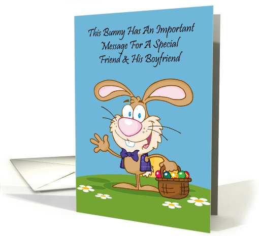 Jelly Beans Humor Friend and His Boyfriend Easter card (1226460)