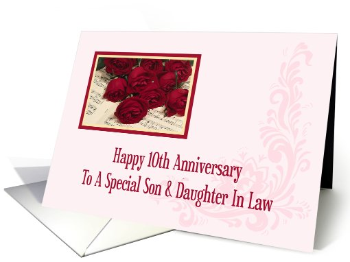 Son And Daughter In Law 10th Anniversary card (578717)