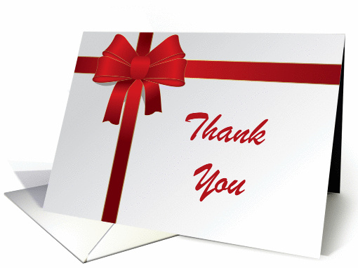 Thank You Note Red Bow card (467906)