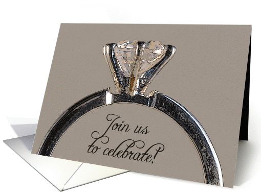 Engagement Party Invitation Diamond Engagement Ring card (583900)