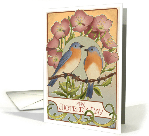 Bluebirds - Mother's Day card (184725)