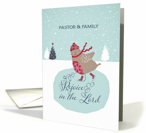 For pastor and his family, Rejoice in the Lord, Christmas card
