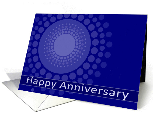 Happy Anniversary, Employee, Business Card, blue polka dots card