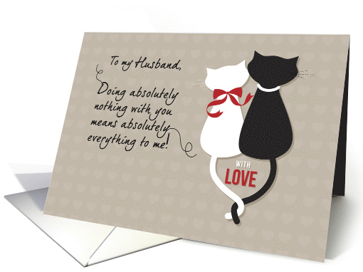 Black & White Cats, Husband Wedding Anniversary card (1043373)