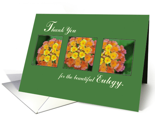 Thank You for Eulogy, Flowers on Green card (1058899)