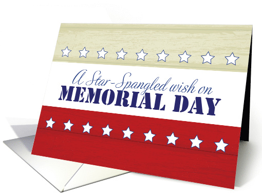 Memorial Day, Star-Spangled Wish card (1280890)