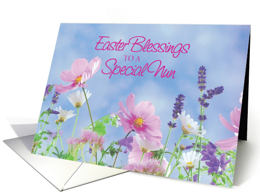 Easter Blessings To Nun, Wildflowers card (1364752)