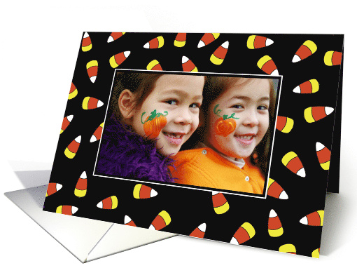 Halloween Candy Corn Custom Photo Card, Personalize card (1397962)