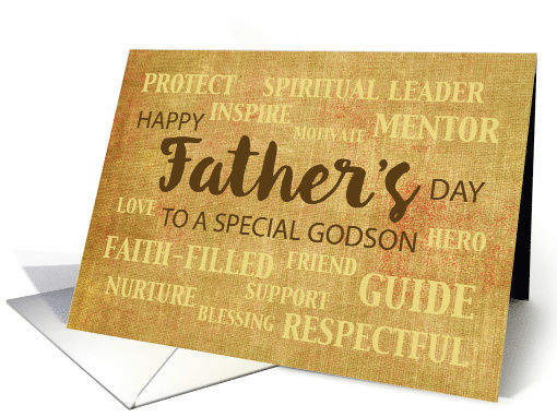 Godson Religious Father's Day Qualities card (1524980)