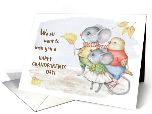 Mice and Bird Grandparents Day from Group card (1534600)