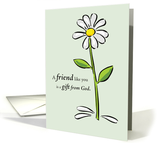 Happy Birthday for Friend with Daisy Flower card (178374)