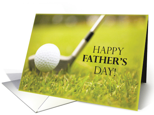 Happy Father's Day with Golf Ball and Golf Club card (188447)