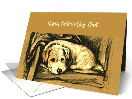 Happy Father's Day with Dog, Hat and Coat card (188615)