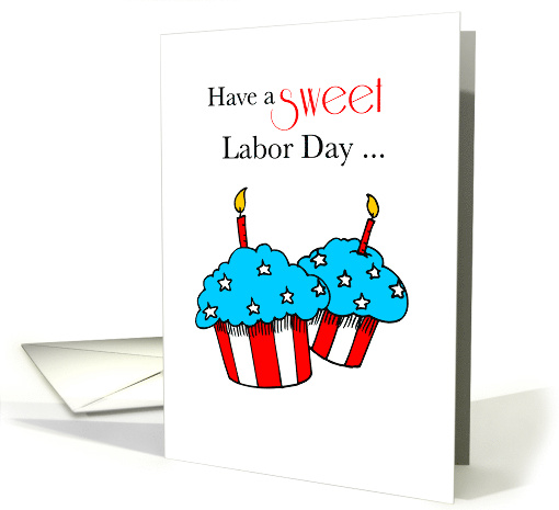Labor Day with Patriotic Cupcakes card (245739)