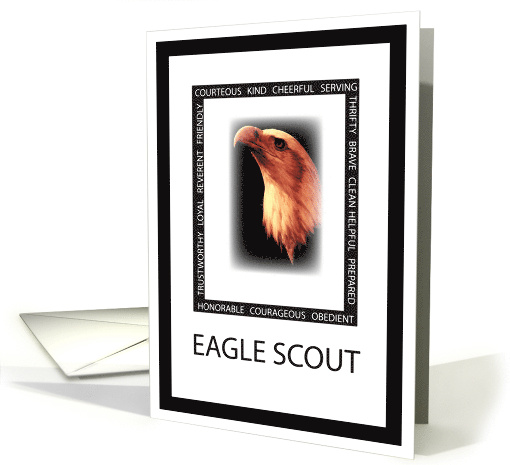 Congratulations for Eagle Scout with Eagle Face & Virtues... (255937)