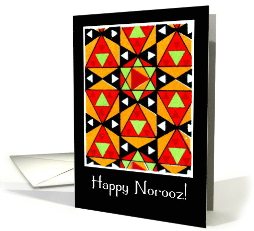 Happy Norooz, Persian New Year with Colorful Triangles and... (376164)