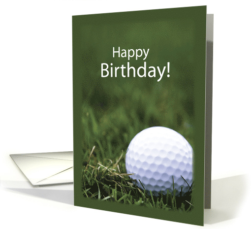 Golf Birthday with Ball and Grass, Sport card (465966)