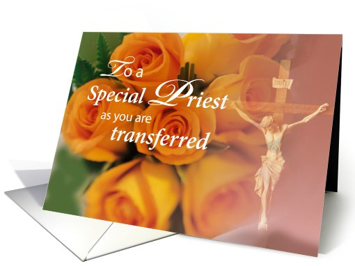 Priest on your Transfer Cross and Roses card (572143)