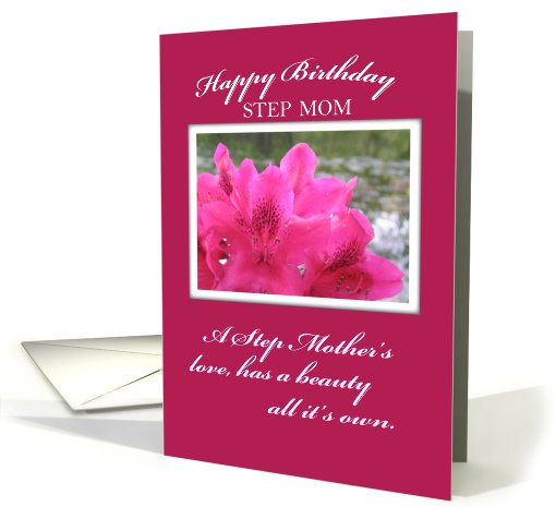 Step Mom Birthday Flower, Pink card (592242)